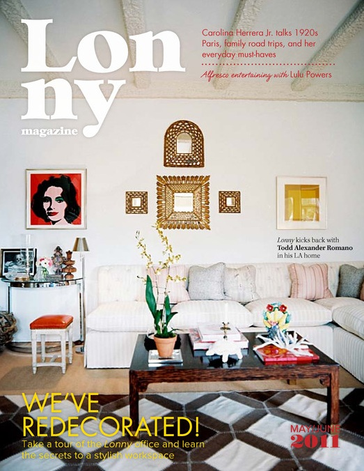 Lonny Mag Cover Issue May June 2011 For Your Reading Pleasure