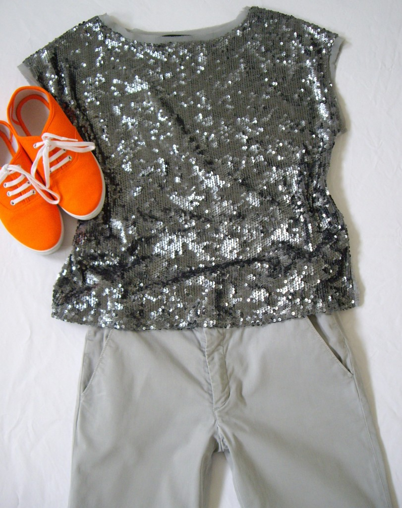 001 811x1024 How To Wear Bright Orange Sneakers