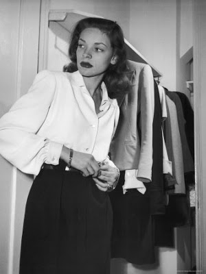 3. lauren bacall at gotham hotel Lauren Bacall Style Icon
