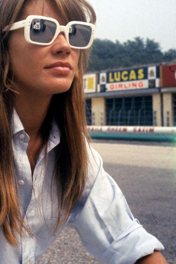 white sunglasses francoise hardy